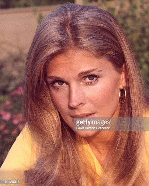 Headshot of Candice Bergen US actress and fashion model circa 1975
