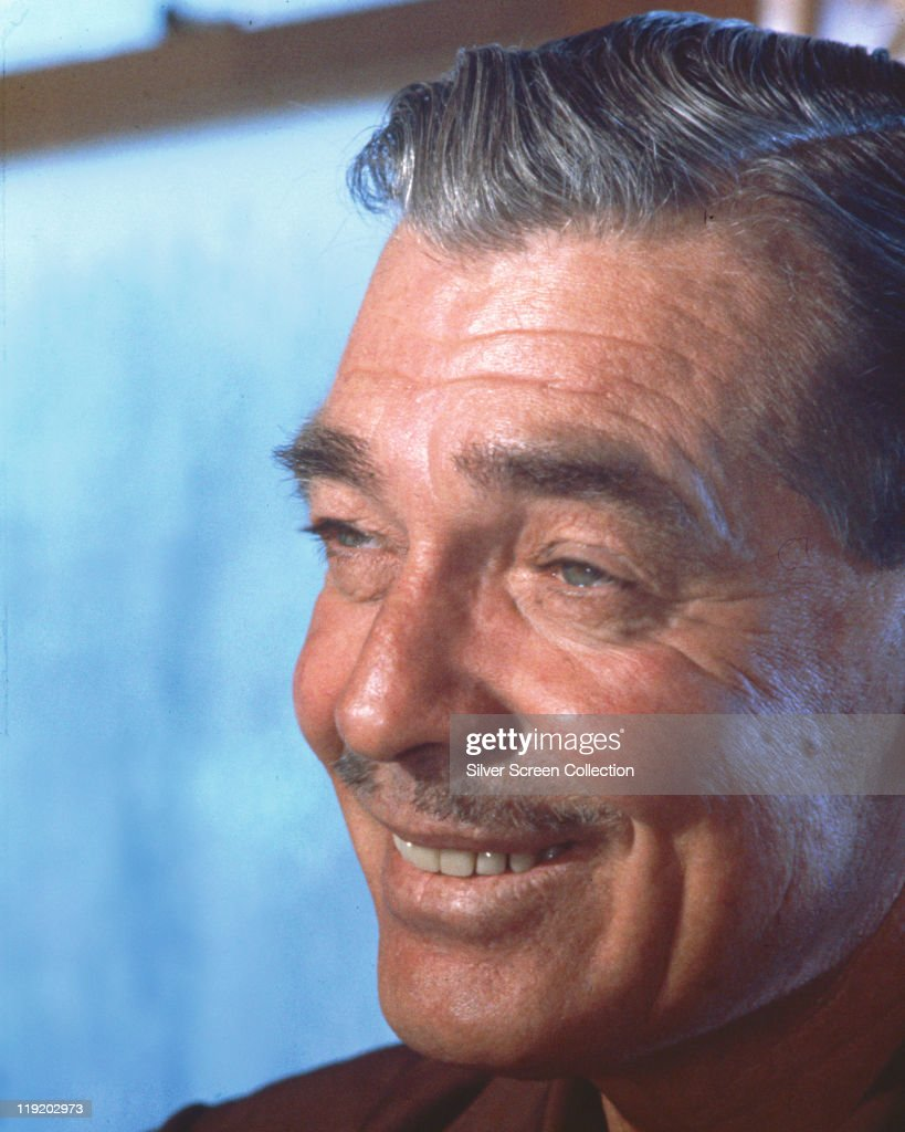 Headshot of <a gi-track='captionPersonalityLinkClicked' href=/galleries/search?phrase=Clark+Gable&family=editorial&specificpeople=70015 ng-click='$event.stopPropagation()'>Clark Gable</a> (1901–1960), US actor, smiling in a publicity portrait issued for the film, 'The Misfits', USA, 1961. The 1961 drama, directed by John Huston (1906–1987), starred Gable as 'Gay Langland'.