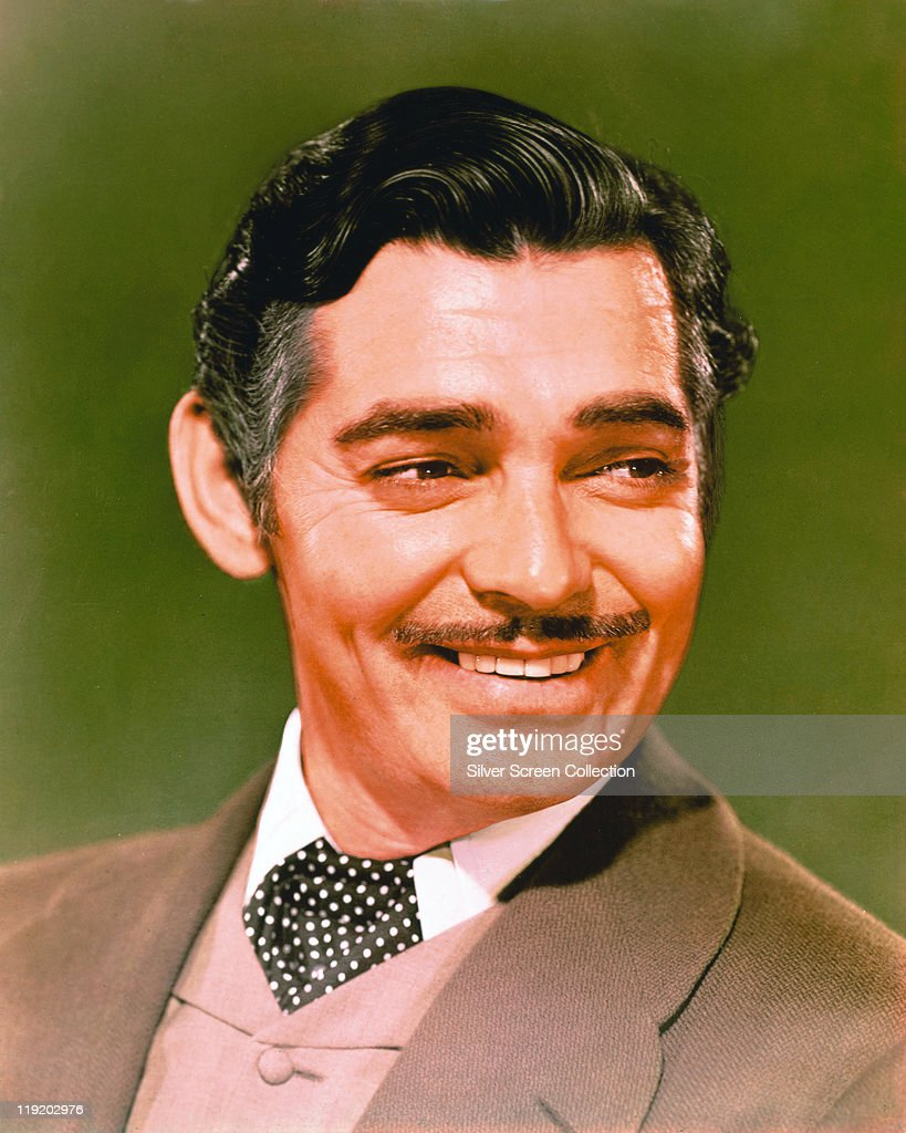 Headshot of Clark Gable US actor smiling in a publicity portrait issued for the film 'Gone With The Wind' USA 1939 The 1939 drama directed by Victor...