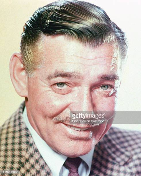 Headshot of Clark Gable US actor smiling in a publicity portrait circa 1960