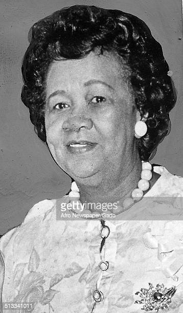 Headshot of educator and Civil Rights activist Dorothy Height July 16 1974