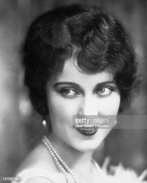 Headshot of Fay Wray Canadian actress wearing a pearl necklace circa 1925