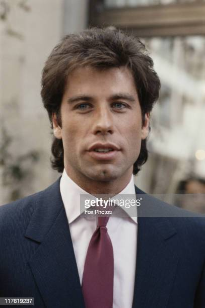 Headshot of John Travolta US actor promoting the release of his film 'Staying Alive' at the Inn on the Park Hotel in London England United Kingdom...