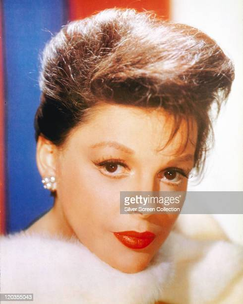 Headshot of Judy Garland US actress and singer in a studio portrait circa 1965