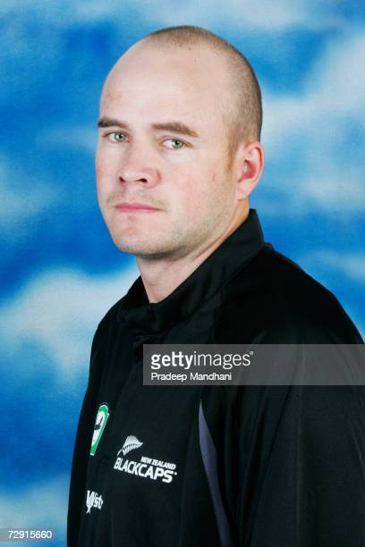 A headshot of Peter Fulton of New Zealand taken ahead of the ICC Champions Trophy on October 2 2006 in Mumbai India