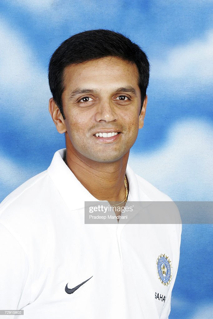 A headshot of <a gi-track='captionPersonalityLinkClicked' href=/galleries/search?phrase=Rahul+Dravid&family=editorial&specificpeople=211062 ng-click='$event.stopPropagation()'>Rahul Dravid</a> of India taken ahead of the ICC Champions Trophy on October 2, 2006 in Mumbai, India.