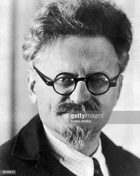 Headshot of Russian Revolutionary political leader and author Leon Trotsky 1930s