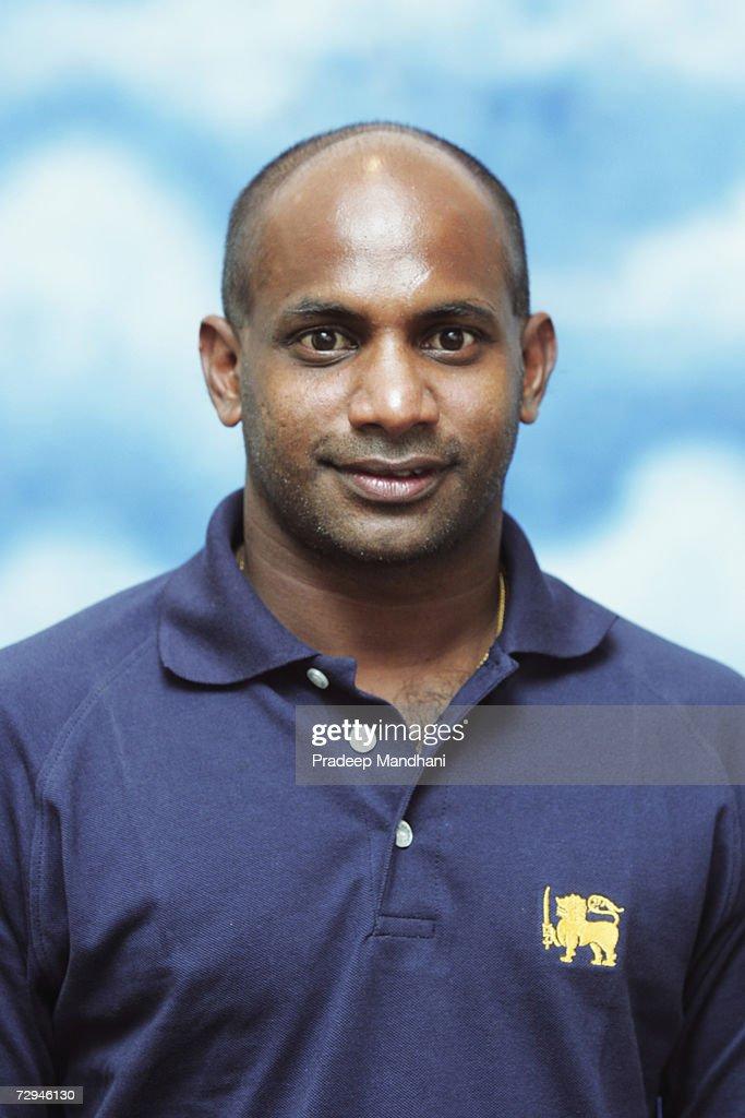 A headshot of Sanath Jayasuriya of Sri Lanka taken ahead of the ICC Champions Trophy on October 2 2006 in Mumbai India