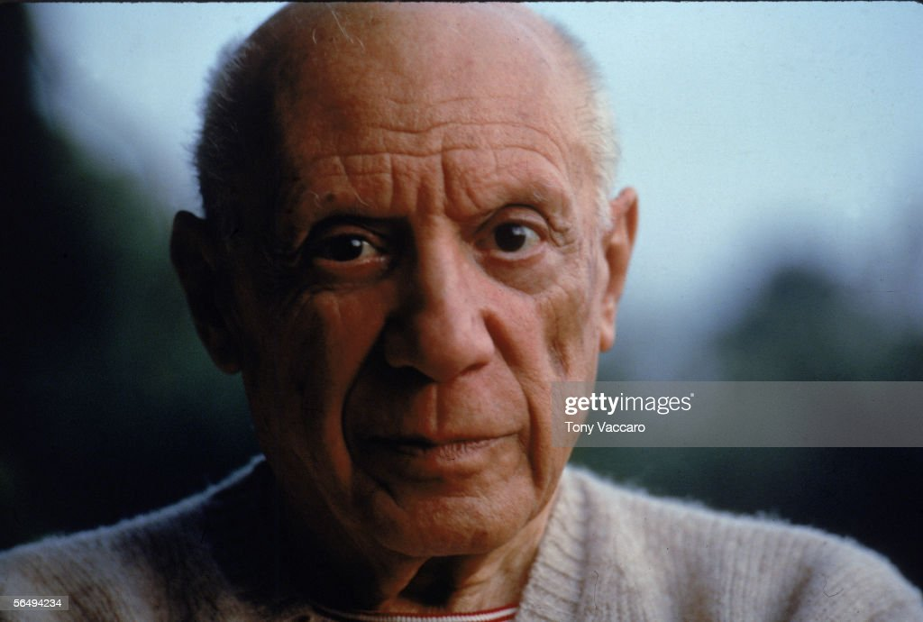 Headshot of Spanish artist <a gi-track='captionPersonalityLinkClicked' href=/galleries/search?phrase=Pablo+Picasso&family=editorial&specificpeople=85469 ng-click='$event.stopPropagation()'>Pablo Picasso</a> (1881 - 1973), 1950s.