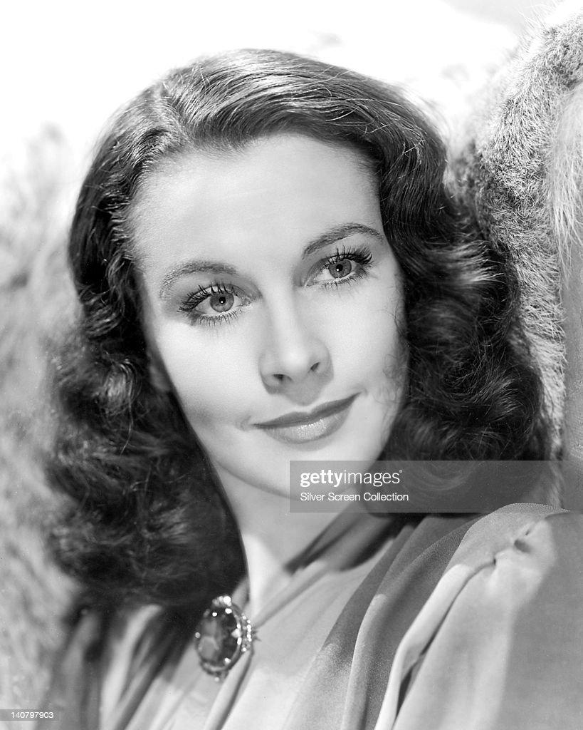 Headshot of Vivien Leigh (1913-1967), British actress, circa 1940.