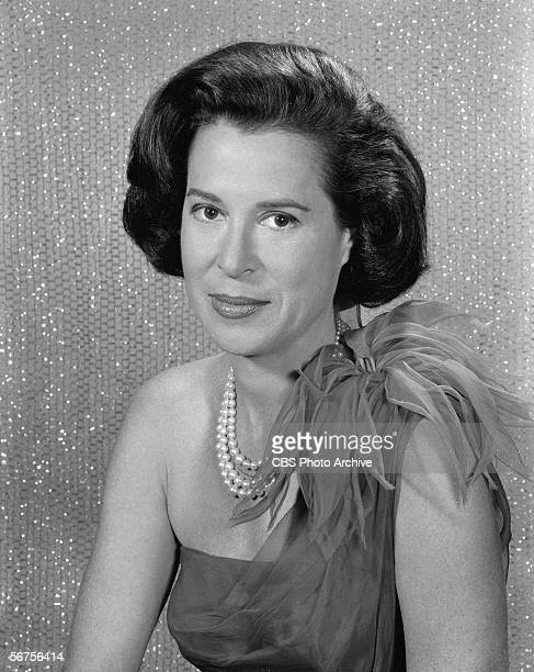 Headshot portrait of American actress socialite and television personality Kitty Carlisle April 24 1962