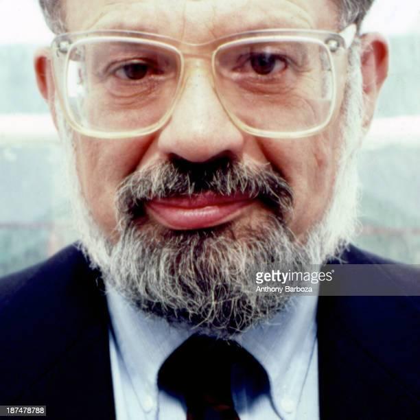 Headshot portrait of American Beat poet Allen Ginsberg New York New York 1987