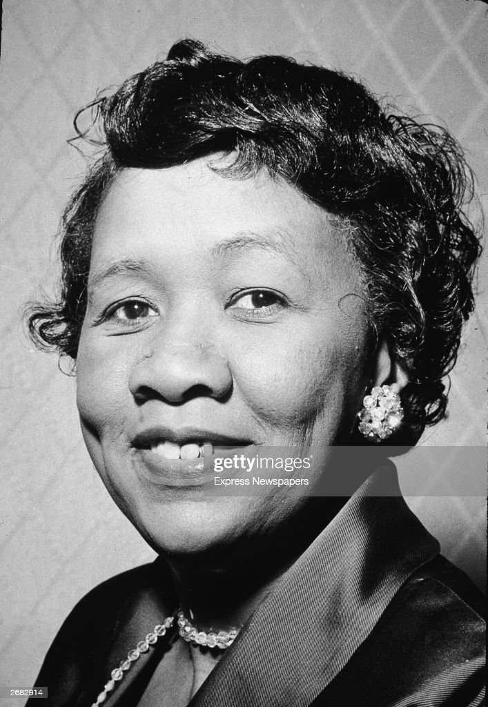 Headshot portrait of American civil and women's rights activist Dorothy Height, president of the American Nations Council of Negro Women, 1960s.