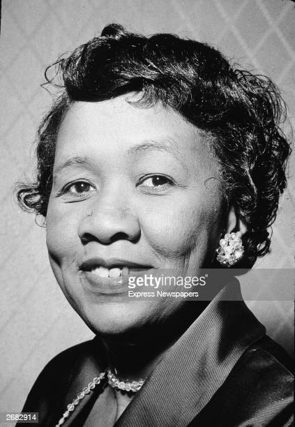 Headshot portrait of American civil and women's rights activist Dorothy Height president of the American Nations Council of Negro Women 1960s