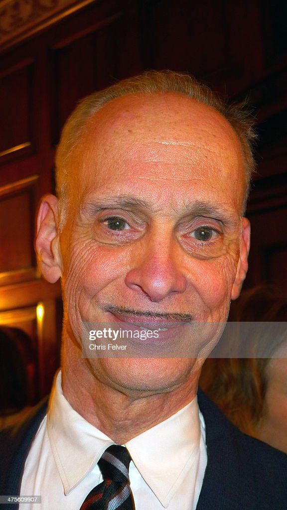Headshot portrait of American film director and author John Waters at the Orpheum Theater, Los Angeles, California, February 24, 2014. Waters was there to interview artist Jeff Koons as part of 'The Un-Private Collection' lecture series.