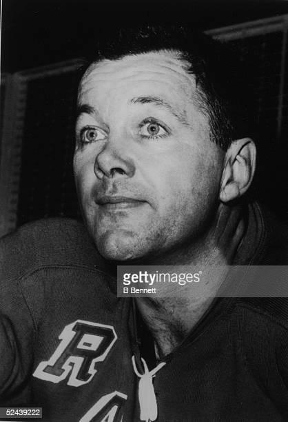 Headshot portrait of Canadian hockey player Doug Harvey of the New York Rangers May 11 1962