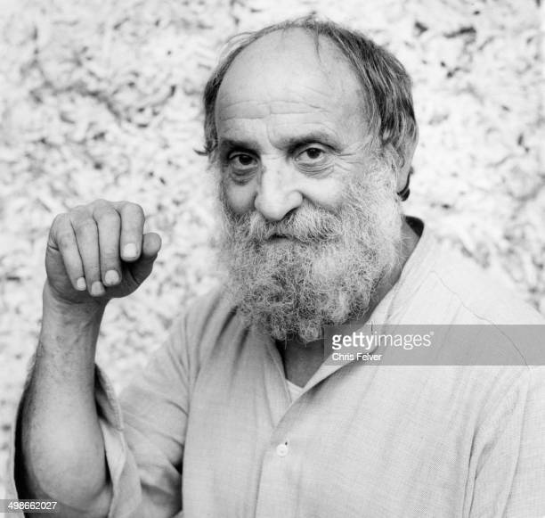 Headshot portrait of French artist Cesar Baldaccini Paris France 1990