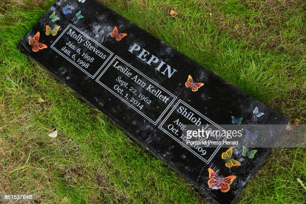 A headstone etched with butterflies and engraved with the names of Shiloh Pepin her mother and a sister who died in infancy was placed in the Pine...