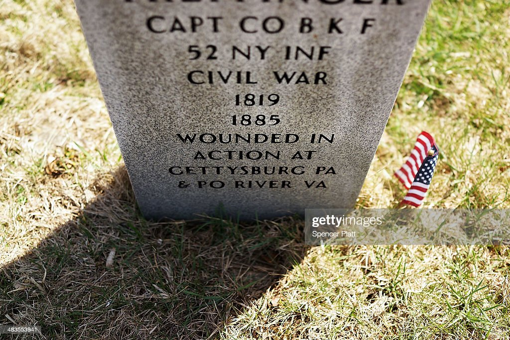 A headstone to a man who served in the American Civil War is viewed at Green-Wood Cemetery on the 149th anniversary of the ending of the Civil War on April 9, 2014 in the Brooklyn borough of New York City. Green-Wood Cemetery holds over 5,000 veterans of the war, including 75 Confederates and women who served as nurses. While New York was not the sight for any Civil War battles, it was home to numerous arms manufacturers, Confederate prisons, tens of thousands of volunteers and was a major center for the financing to the Union Army. The Civil War ran from 1861 to 1865.