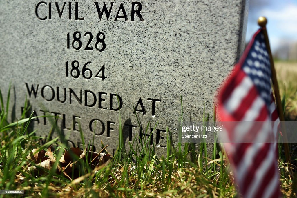 A headstone to a man who served in the American Civil War is viewed at Green-Wood Cemetery in Brooklyn on the 149th anniversary of the ending of the Civil War on April 9, 2014 in New York City. Green-Wood Cemetery holds over 5,000 veterans of the war, including 75 Confederates and women who served as nurses. While New York was not the sight for any Civil War battles, it was home to numerous arms manufacturers, Confederate prisons, tens of thousands of volunteers and was a major center for the financing to the Union Army. The Civil War ran from 1861 to 1865.