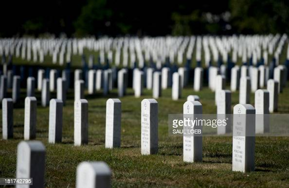 Headstones are seen marking graves at Arlington National Cemetery in Arlington Virginia September 24 2013 More than 400000 people are buried at the...