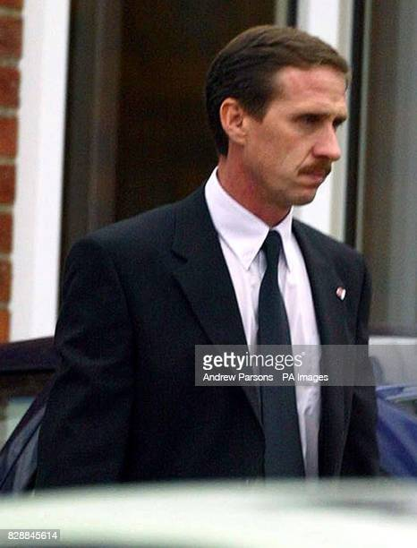 Headteacher Gary Loveridge arrives at Birkbeck School in North Somercotes near Louth Lincolnshire following the stabbing of 14yearold pupil Luke...