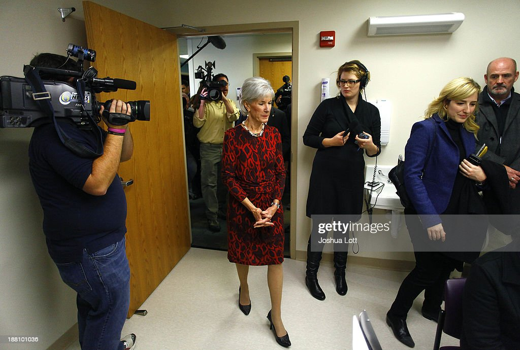 U.S. Health and Human Services Secretary <a gi-track='captionPersonalityLinkClicked' href=/galleries/search?phrase=Kathleen+Sebelius&family=editorial&specificpeople=700528 ng-click='$event.stopPropagation()'>Kathleen Sebelius</a> arrives at Community Health and Social Services Center (CHASS) to speak about the Affordable Care Act November 15, 2013 in Detroit, Michigan. Sebelius, who has been the center of attention in U.S. President Barack Obama's administration for the failed rollout of Healthcare.gov, says the health care act has yet to be successful.