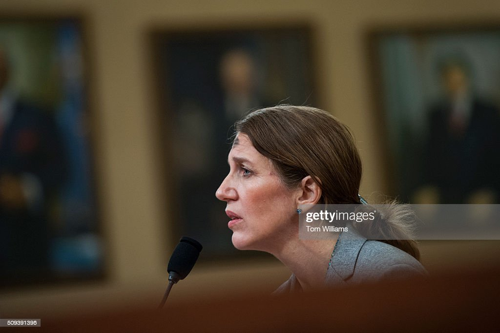 Health and Human Services Secretary Sylvia Mathews Burwell testifies during a House Ways and Means Committee hearing in Longworth on the HHS Fiscal Year 2017 budget request, February 10, 2016.