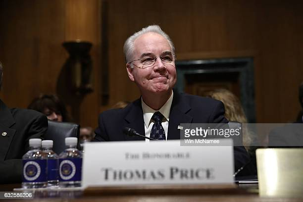 Health and Human Services secretarynominee Rep Tom Price arrives for testimony before the Senate Small Business and Entrepreneurship Committee...