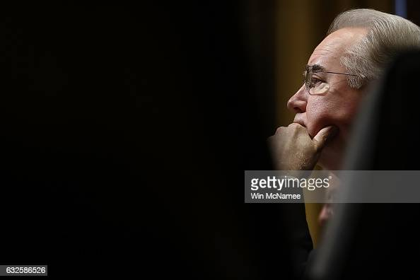 Health and Human Services secretarynominee Rep Tom Price testifies before the Senate Small Business and Entrepreneurship Committee January 24 2017 in...
