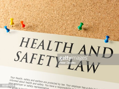 Health and Safety notice-board. : Stock Photo