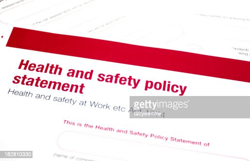 Health And Safety Statement Stock Photo | Getty Images
