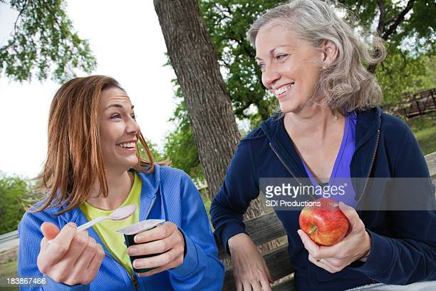 Health Conscious Daughter and Mother Having Fun Together at Park