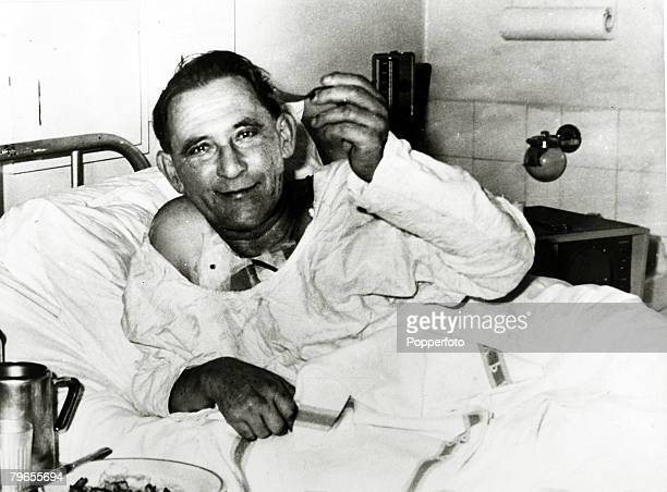 Health Heart Transplants Cape Town South Africa pic December 1967 Louis Washkansky recovering in the Groote Schuur Hospital after the operation...