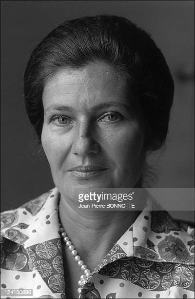 Health Minister Simone Veil In Paris France On June 17 1974
