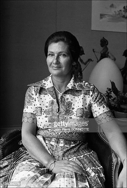 Health Minister Simone Veil In Paris France On June 17 1974 Simone Veil at home