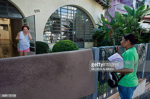 A Health Ministry agent checks a residence during an operation to fight the Aedes aegypti mosquito vector of the Zika Dengue ans Chikungunya viruses...