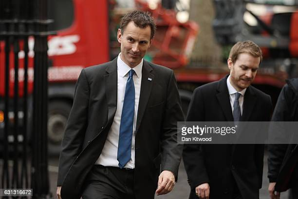 Health Secretary Jeremy Hunt arrives to listen to British Prime Minister Theresa May speak to members of the Charity Commision for England and Wales...