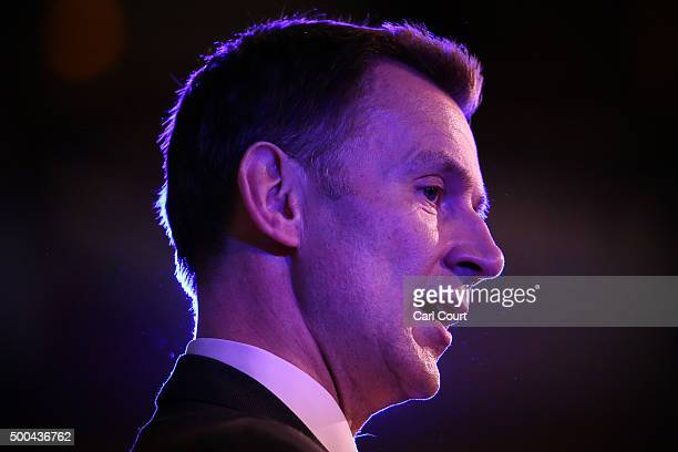Health Secretary Jeremy Hunt speaks at the Britain against Cancer conference on December 8 2015 in London England Britain Against Cancer is hosted by...