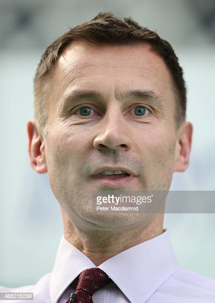 Health Secretary Jeremy Hunt speaks at the UK eHealth Week event at Olympia National on March 4 2015 in London England The eHealth event brings...