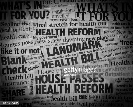 healthcare bill Headline Collage