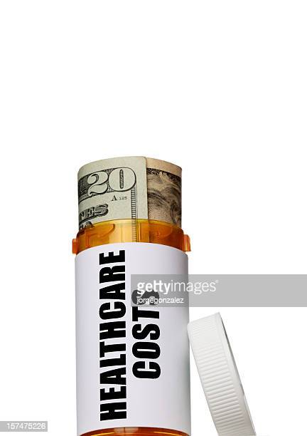 Healthcare costs bottle