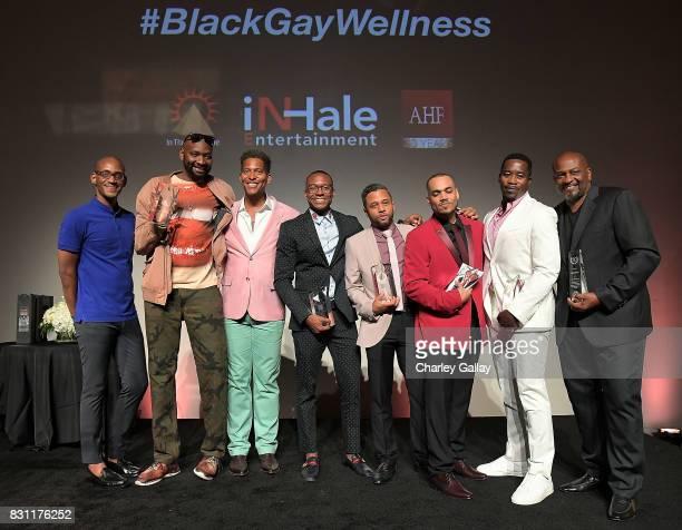 AIDS Healthcare Foundation's Christopher G Johnson Superstar Storyteller Award winner PatrikIan Polk Founder iNHale Entertainment Nathan Hale...