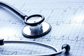 Doctor's Stethoscope and Electrocardiogram