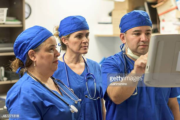 Healthcare workers at work (real people)