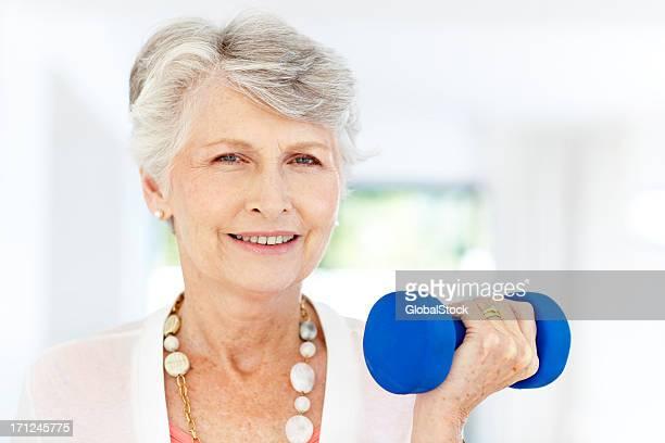 Gesunde senior Frau