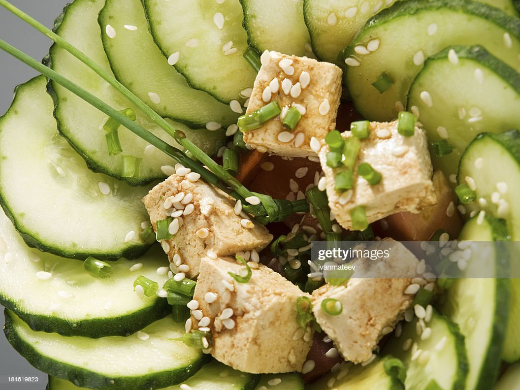 Healthy asian salad : Stock Photo