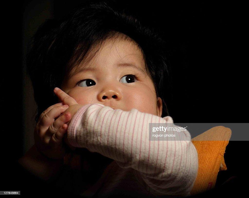 Healthy baby girl : Stock Photo