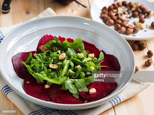 Healthy beetroot carpaccio
