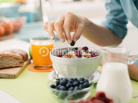 Healthy breakfast at home : Foto de stock